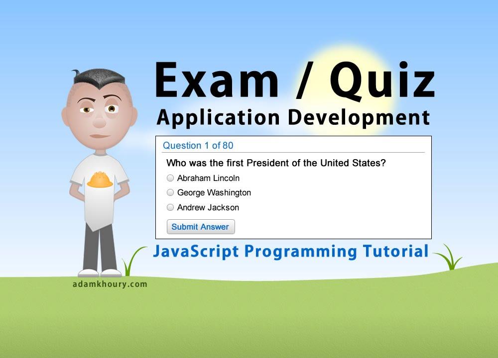 Exam Application Programming Tutorial JavaScript Quiz Online Test - online quiz templates