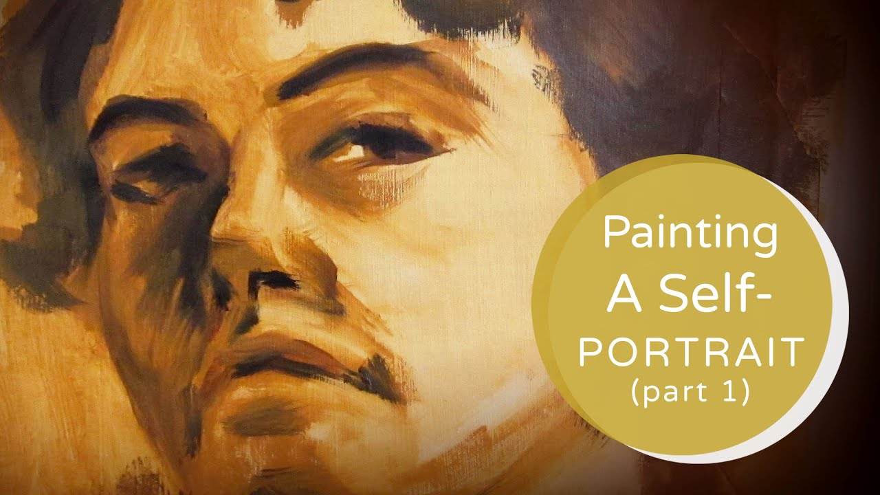 Painting A Self-Portrait Tutorial Part 1 - YouTube