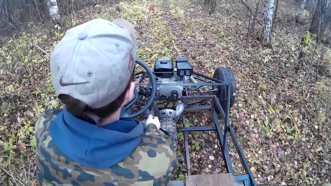 Тест багги с двигателем Lifan168F2-RD