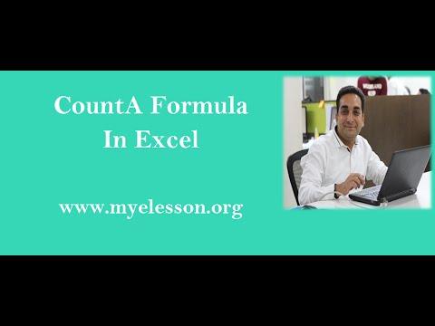 Counta Formula in Excel