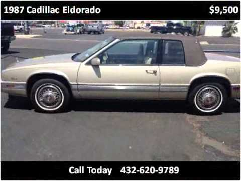 1987 Cadillac Eldorado Used Cars Midland TX - YouTube