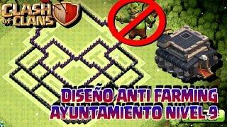 DISEÑO DE ALDEA PARA AYUNTAMIENTO NIVEL 9 [Clash of Clans]