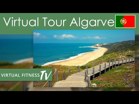 Virtual Tour - Algarve Beaches  - A Indoor Walking  Exercise with Nature and Culture of The Algarve