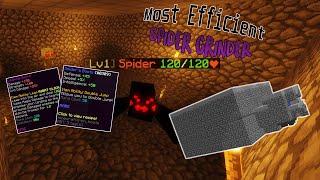 Hypixel Skyblock - Most Efficient Hybrid Spider Farm!