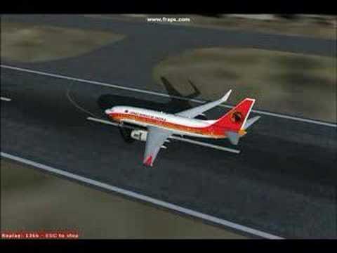 TAAG B737 Landing in Luanda, FS2004