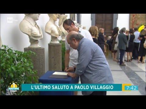 Funerali di Paolo Villaggio, l'addio di figli e colleghi - Unomattina Estate 06/07/2017