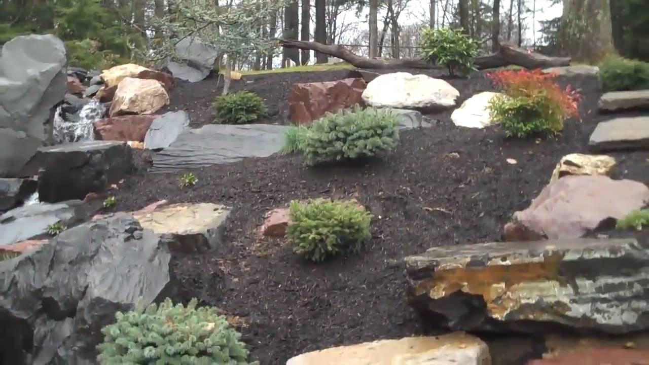 Design Rock Landscaping rock landscape by chris orser landscaping youtube