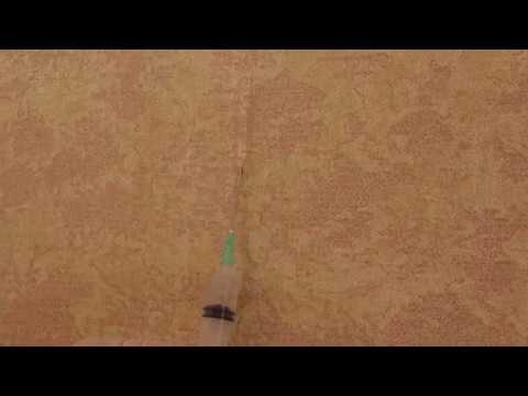 Как убрать пузыри на обоях/How to remove bubbles on wallpaper