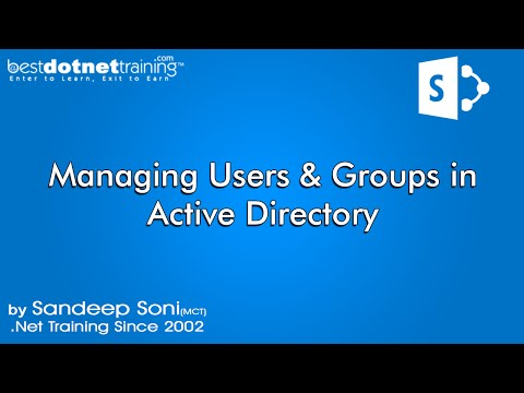 Part 4 - Creating users and groups in Active Directory - SharePoint Tutorial