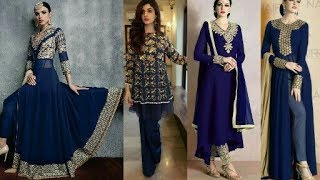 Smart Royal Blue Dress Collection|Palazoo,pants,suits,lehngas,|Latest Dress Design|Beautiful You