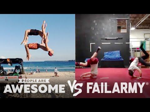 Car Drifting, Hoverboard, Hockey & Slackline Wins VS. Fails | People Are Awesome VS. FailArmy