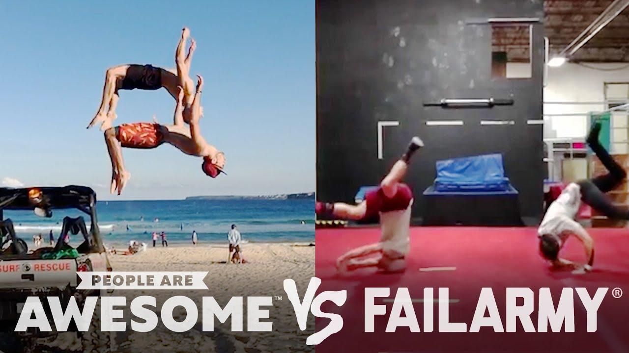 Car Drifting, Hoverboard, Hockey & Slackline Wins VS. Fails   People Are Awesome VS. FailArmy