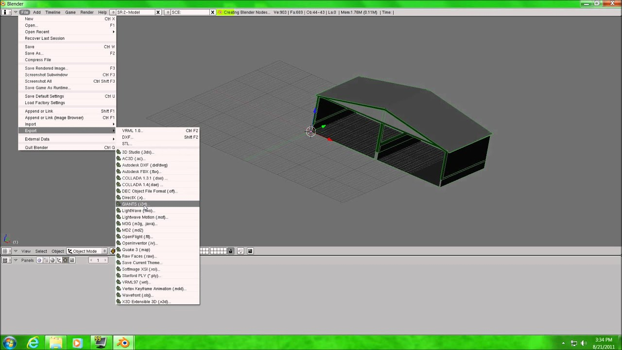 How to convert google sketchup skp to giants i3d 1080p for Google sketchup converter