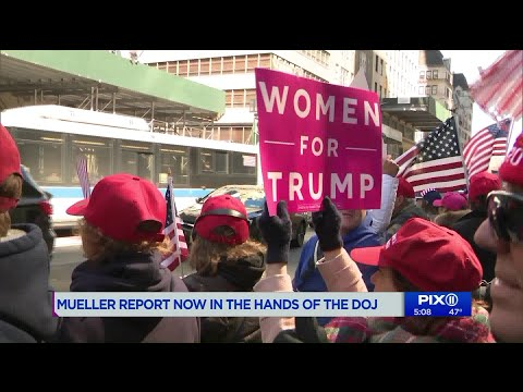 Pro-Trump rally in NY after Mueller report given to Justice Department