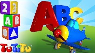 TuTiTu prescolastico   Impara l'inglese per i bambini   Alfabeto in Inglese   ABC Aereo