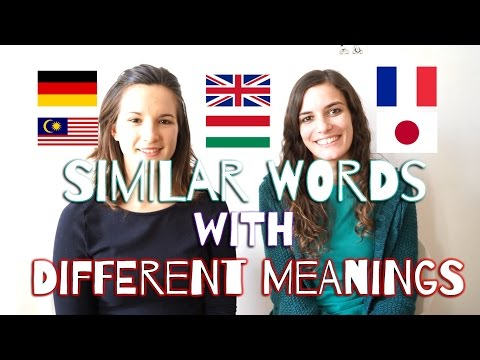 [Language] Similar Words with Different Meanings (EN, DE, FR, HU, MY, JP)