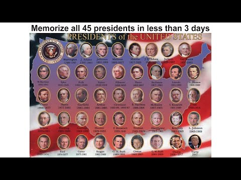 Donald Trump and 44 other presidents, learn them in less than 3 days