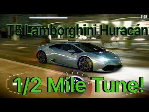 CSR Racing 2 Tune T5 Lamborghini Huracan 1/2 Mile