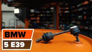 Ako vymeniť zadnú tyčku stabilizátora na BMW 5 E39