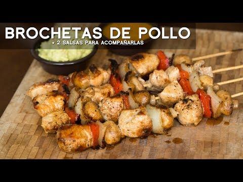 COMO PREPARAR BROCHETAS DE POLLO Y SALSAS PARRILLERAS