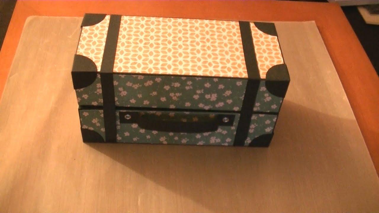 Caja maleta de cart n youtube - Cajas para manualidades ...