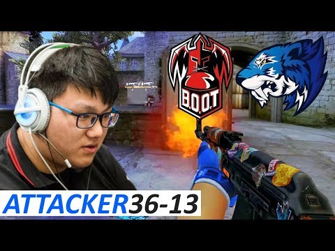 AttackeR 36-13 / Flash vs B.O.O.T-d[S] / StarLadder ImbaTV Invitational Chongqing 2018