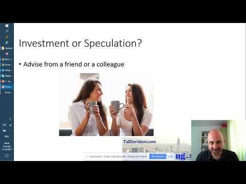 Lesson 1 - Investing vs. Speculating