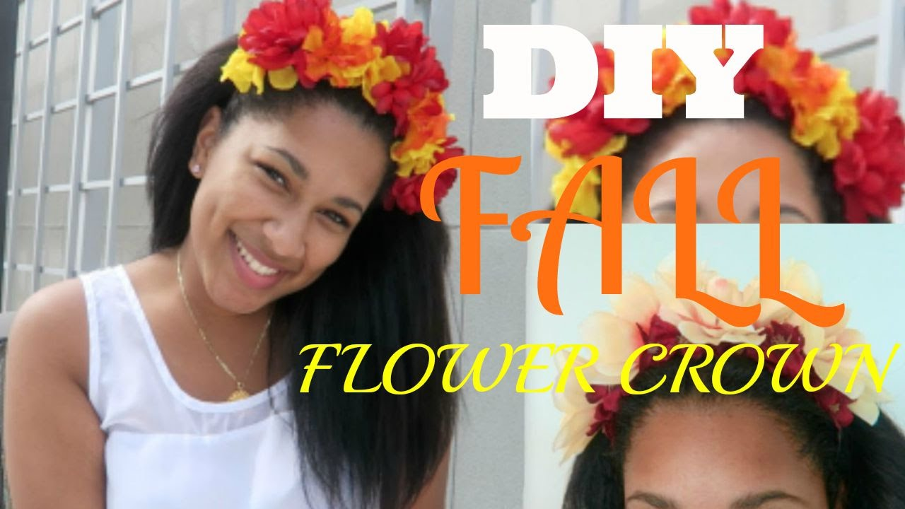 Super Easy And Cheap Diy Fall Flower Crown Youtube