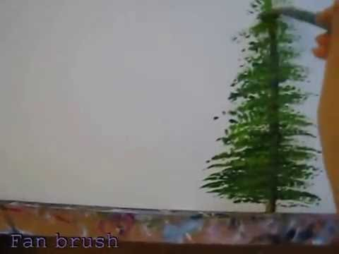How To Paint Fir Trees In Acrylic