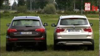 BMW X3 vs. AUDI Q5   -   Test Video .....................................................Oeni