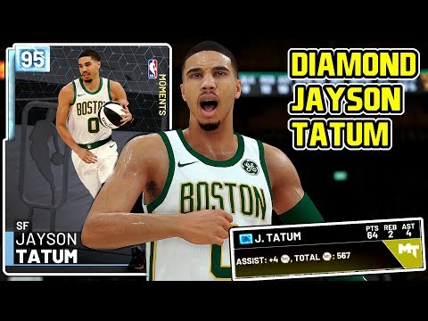 7cf345967f15  ALL-STAR  DIAMOND JAYSON TATUM 64PT GAMEPLAY! THE BEST DIAMOND CARD IN NBA  2k19 MyTEAM