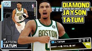*ALL-STAR* DIAMOND JAYSON TATUM 64PT GAMEPLAY! THE BEST DIAMOND CARD IN NBA 2k19 MyTEAM