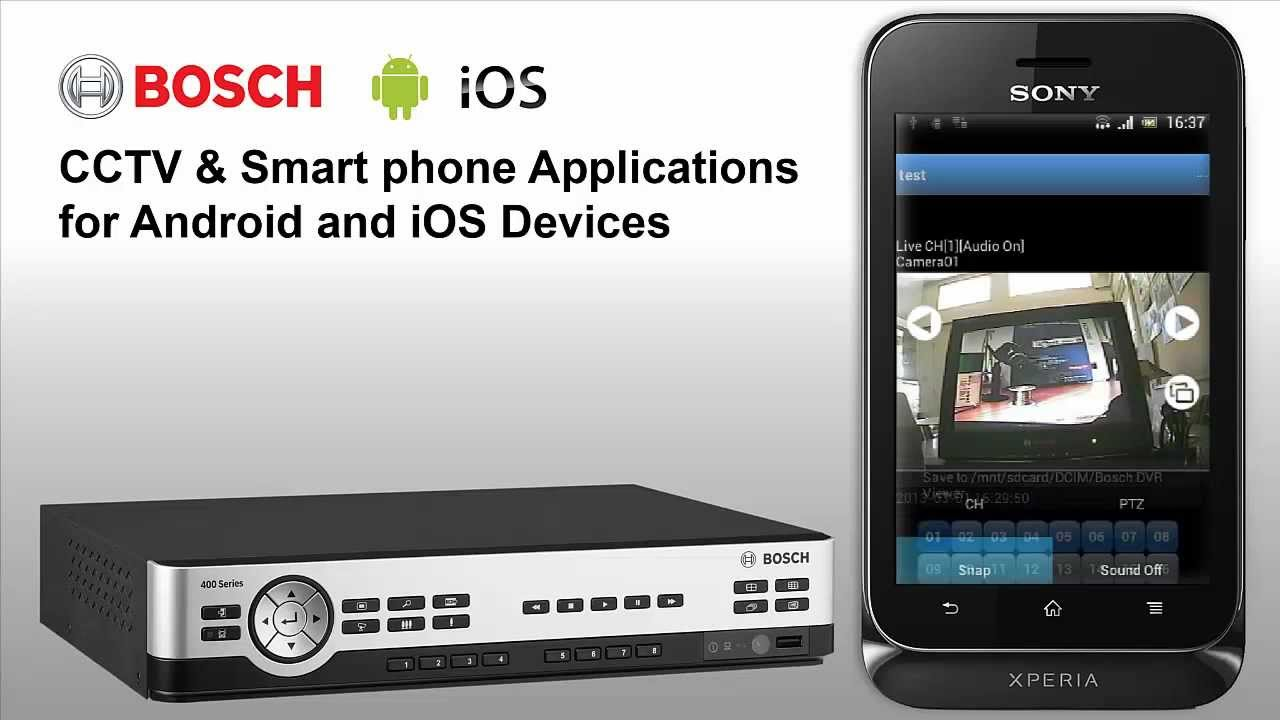 Bosch Dvr Camera Viewer Application For Android And Ios