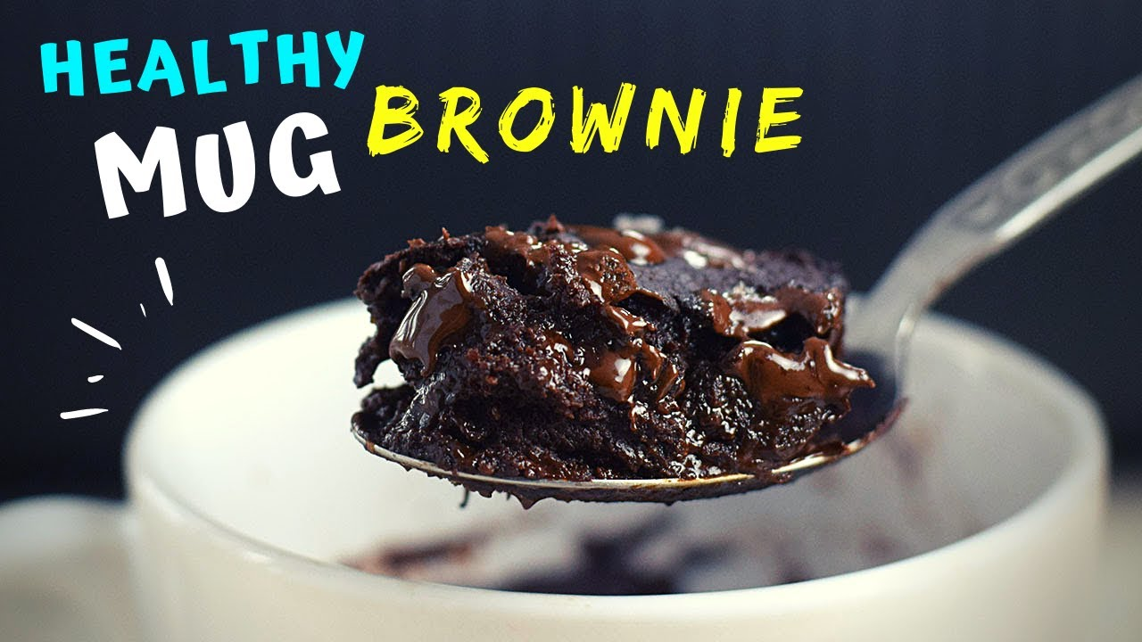 1 Minute Brownie in a Mug (HEALTHY and FUDGY!)