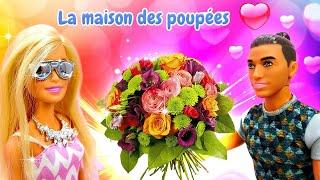 Barbie se prépare pour le rendez-vous avec Ken. Vidéo intéressante en français.