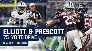 Ezekiel Elliott & Dak Prescott Lead 75-Yard TD Drive! | Bears vs. Cowboys | NFL