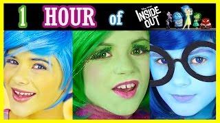 1 HOUR INSIDE OUT Makeup Tutorials, Challenges, Vlogs Compilation! Disney Pixar   KITTIESMAMA