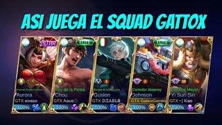 ASI JUEGA EL SQUAD GATTOX! TERMINA ZETZUAL😱  MOBILE LEGENDS ESPAÑOL