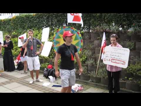 25.08.2011 - Protest Aktion beim Studiengang Förderschulpädagogik an der Uni Landau - Teil 1.