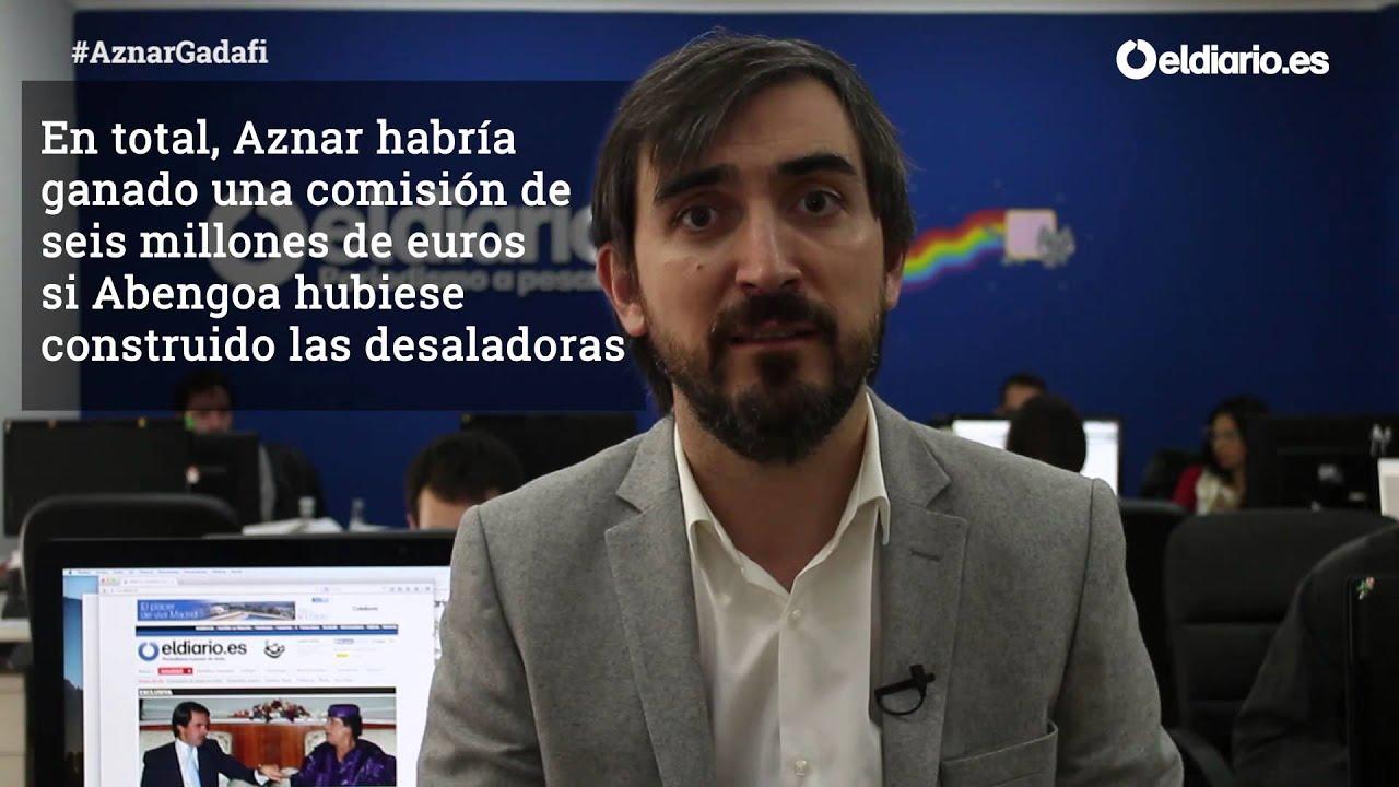 Los negocios de Aznar con Gadafi - YouTube