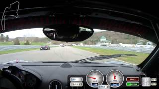 Lime Rock Park Raceway - PCA Club Fun Race - Spin and Crash in Turn 4
