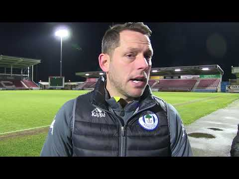 REACTION: Leam Richardson delighted to begin 2018 with victory at Northampton
