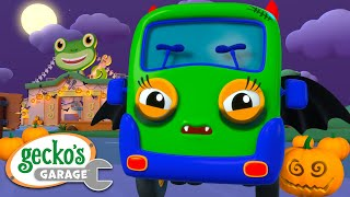Baby Truck's Spooky Halloween Gecko's Garage Funny Cartoon For Kids Learning Videos For Toddlers