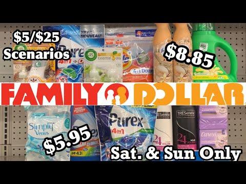 Family Dollar Couponing   $5/$25 Scenarios For This Sat & Sun   Oct 31-Nov 1 Deals   Low OOP 🤩