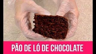 Pão-de-ló fofinho de Chocolate - Isamara Amâncio