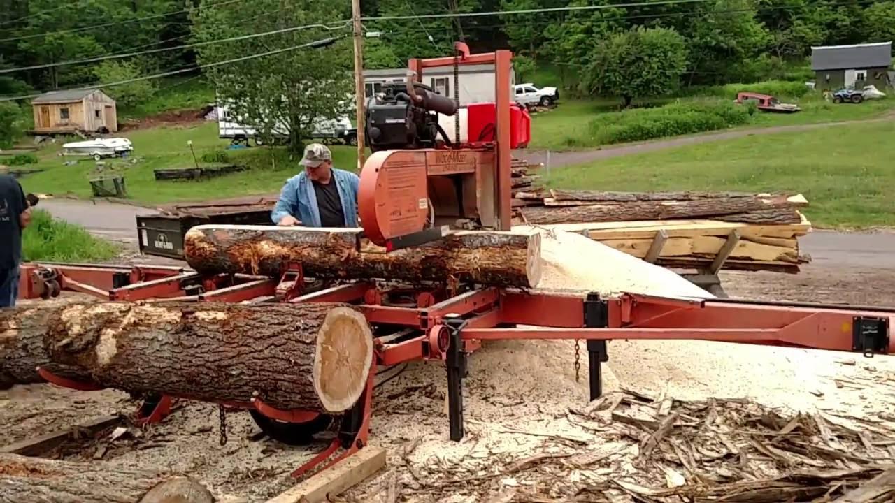 Custom Cutting Pine Logs With Wood