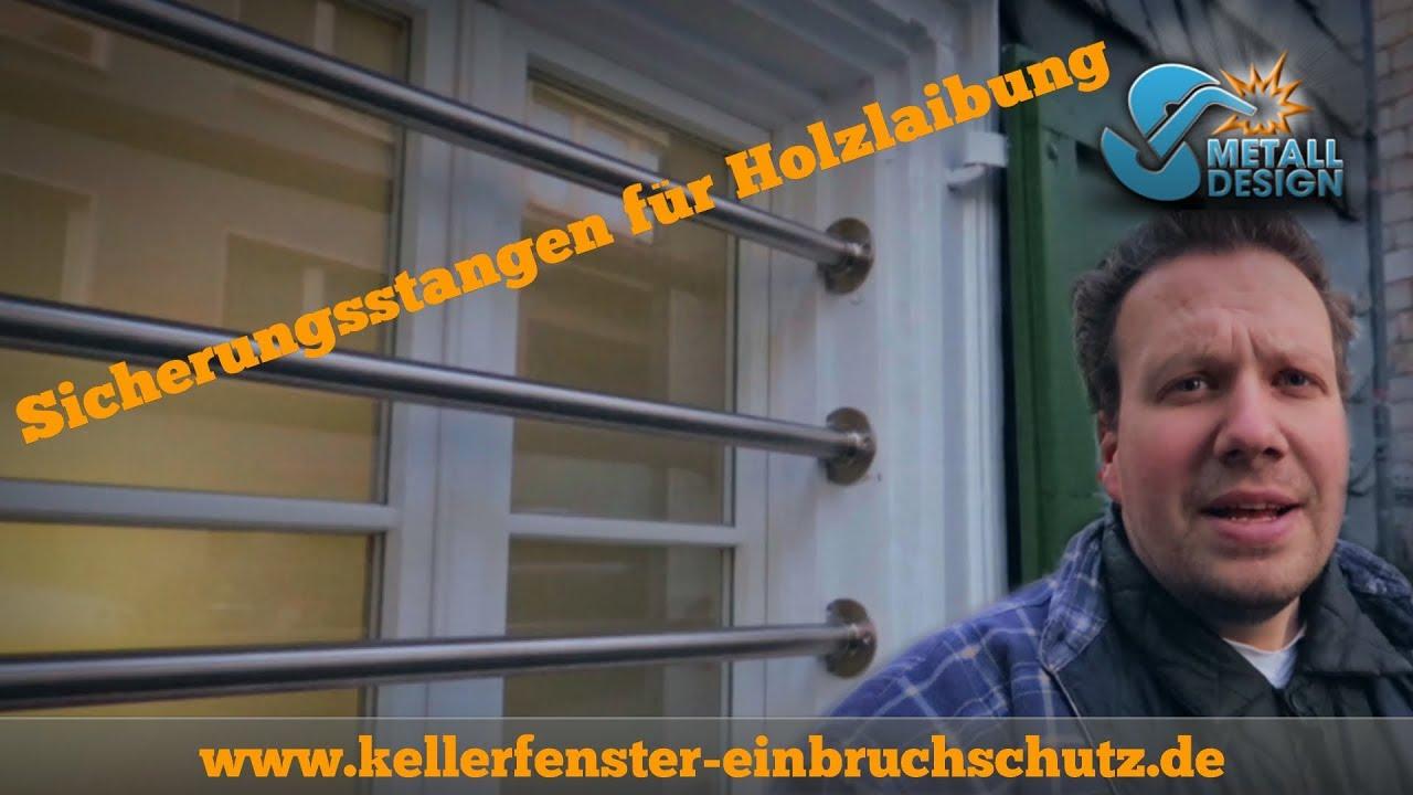 kellerfenster sichern - einbruchschutz - holzlaibung - vlog - youtube