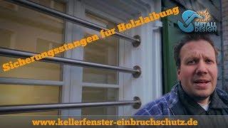 Kellerfenster sichern - Einbruchschutz - Holzlaibung - VLOG