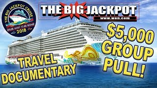 $5,000 GROUP PULL at SEA!! 🛥️ THE BIG JACKPOT CRUISE Travel Documentary!