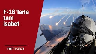 Rejim uçaklarına sınırdan F-16'larla tam isabet